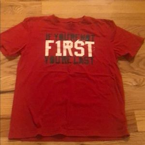 Red boys Under Armour T-shirt size L
